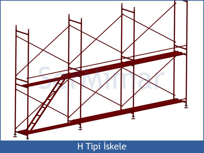» 2 el h tipi güvenlikli iskele fiyatları